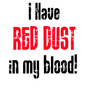 Sticker - I HAVE RED DUST IN MY BLOOD
