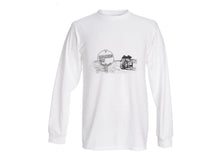Load image into Gallery viewer, Outback - T Shirt Long Sleeve (Unisex) PENCIL SKETCH TOURING ROUTE
