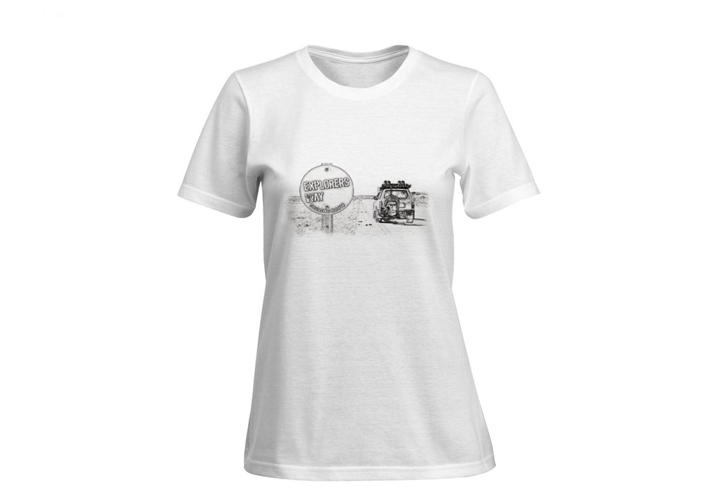 Outback - T Shirt Short Sleeve (Women) PENCIL SKETCH TOURING ROUTE
