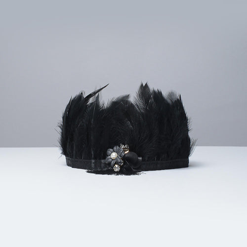 Black Beauty Feather Crown - Little Miss Lace