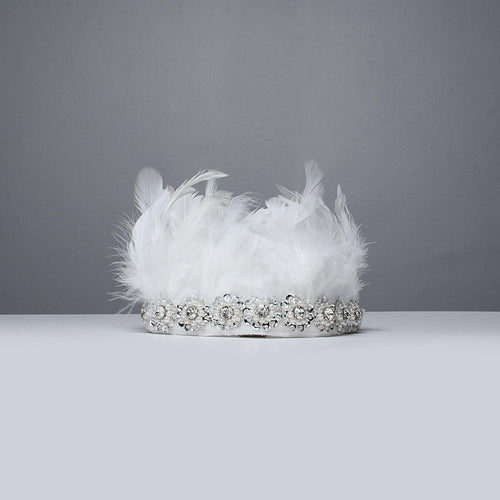 Snowy Feather Crown - Little Miss Lace