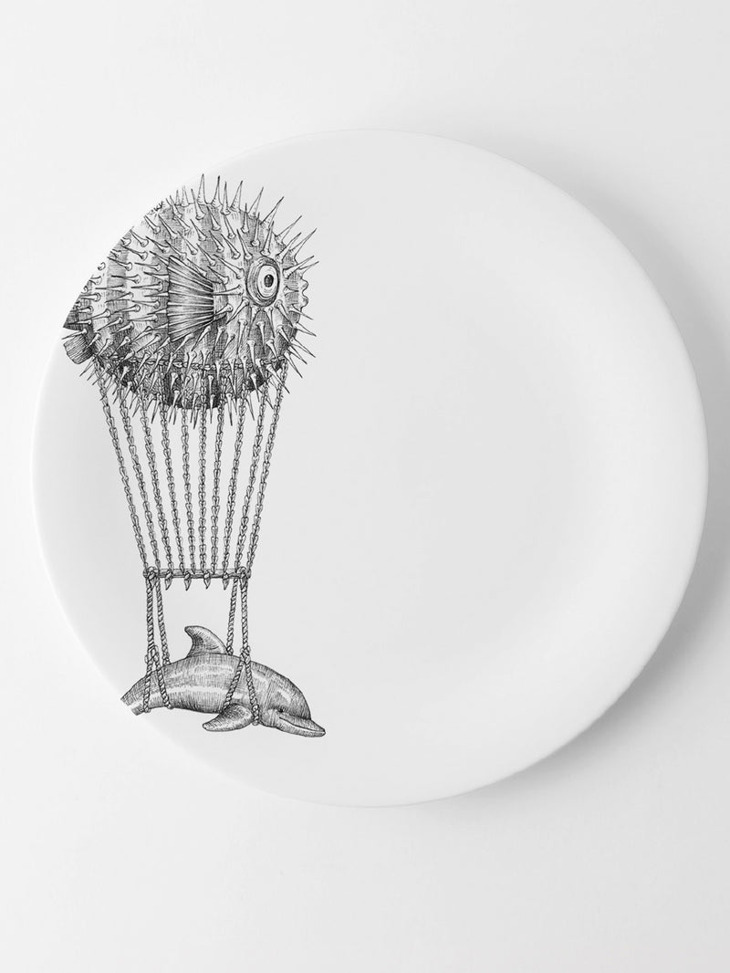 Montgolfier dolphin plate