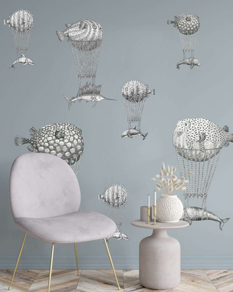 Montgolfier fishes wallpaper