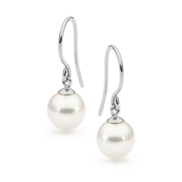 Freshwater Pearl Shephard Hook Earrings Sterling Silver