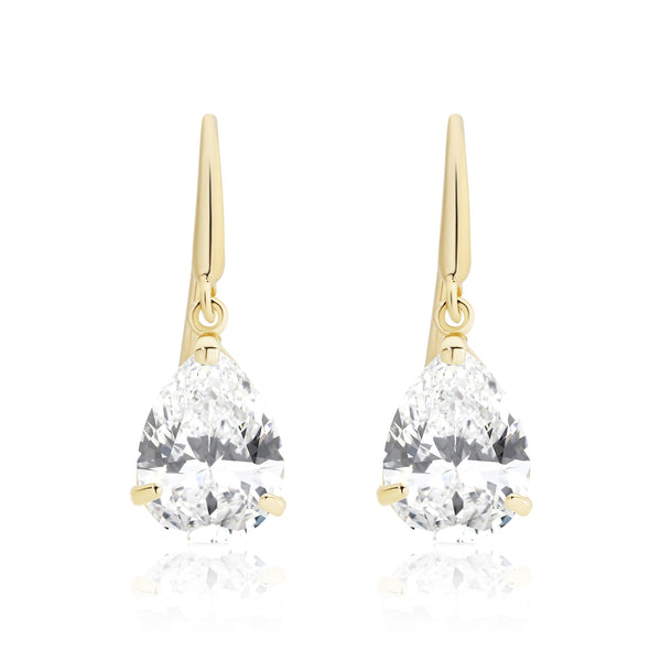9Ct Gold Cubic Zirconia Drop Earrings