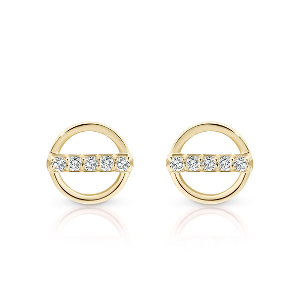 9Ct Gold Cubic Zirconia Stud Earrings