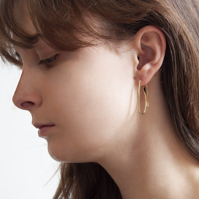 Najo Paperclip Gold Earring