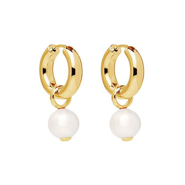 Najo Ms Perla Yellow Gold Earring