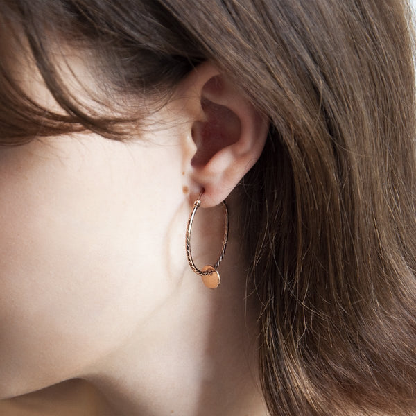 Najo Cayman Hoop Rose Earring