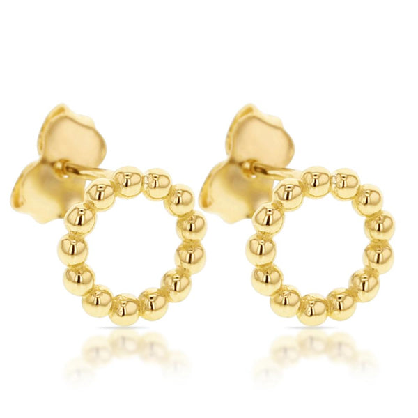 Circle Stud Earrings in 9ct Gold