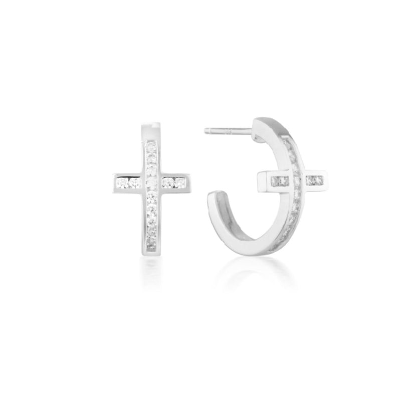 Georgini-Spiritus Sterling Silver Cubic Zirconia Hoop Earrings