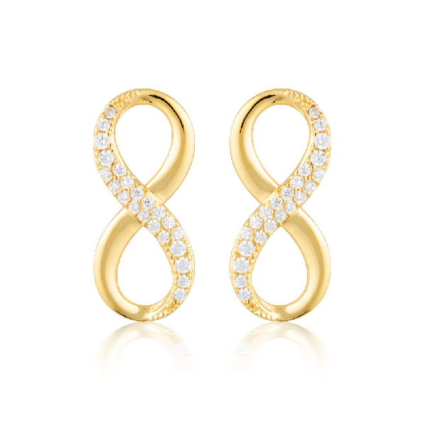 Georgini-Forever Infinity Gold Cubic Zirconia Stud Earrings