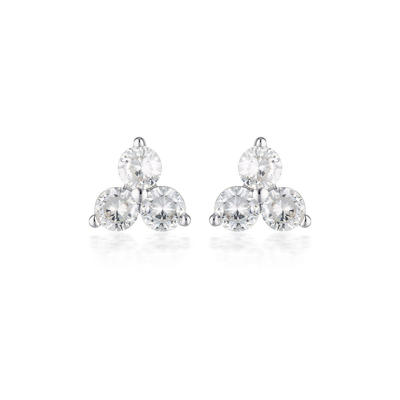 Georgini - Tia Sterling Silver Cubic Zirconia Stud Earrings