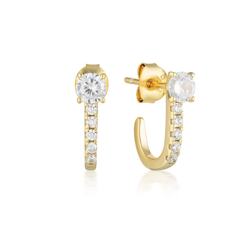 Georgini - Isla Gold Cubic Zirconia Huggie Earrings