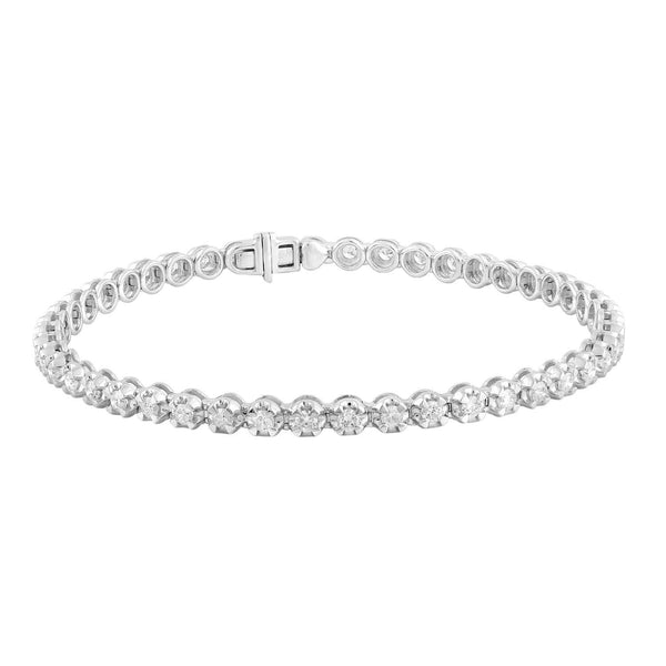 Bracelet with 2ct Diamonds in 9K White Gold