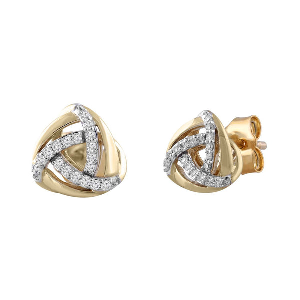 Earrings with 0.1ct Diamond in 9K Yellow Gold