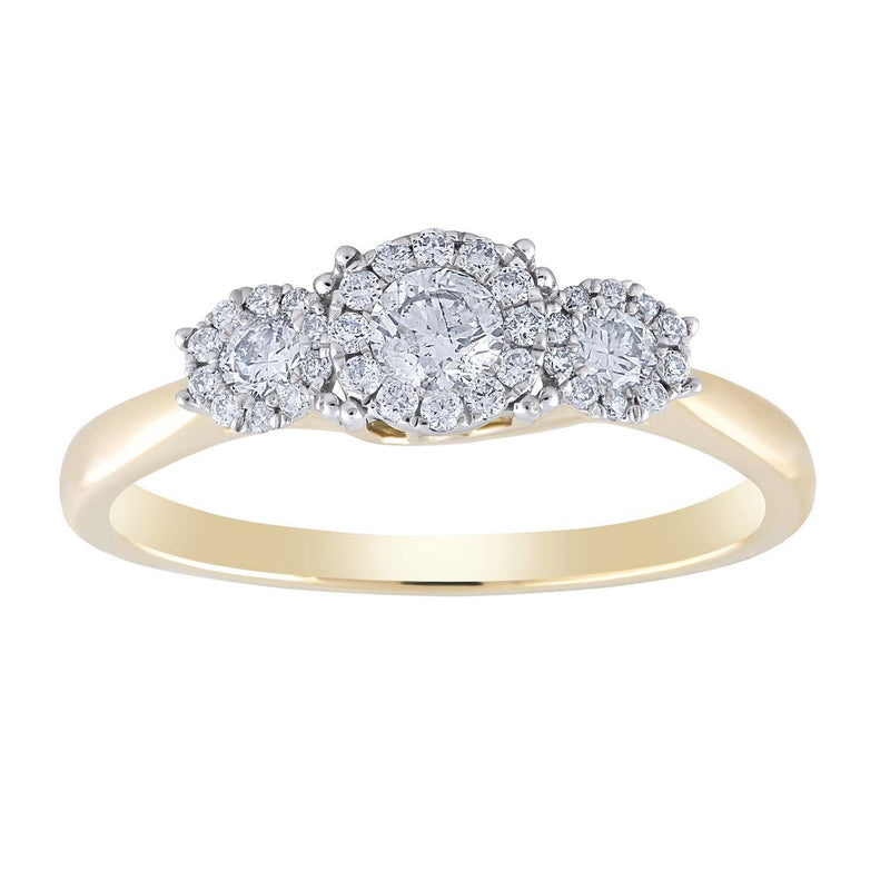 Ring with 0.47ct Diamonds in 9K Yellow Gold