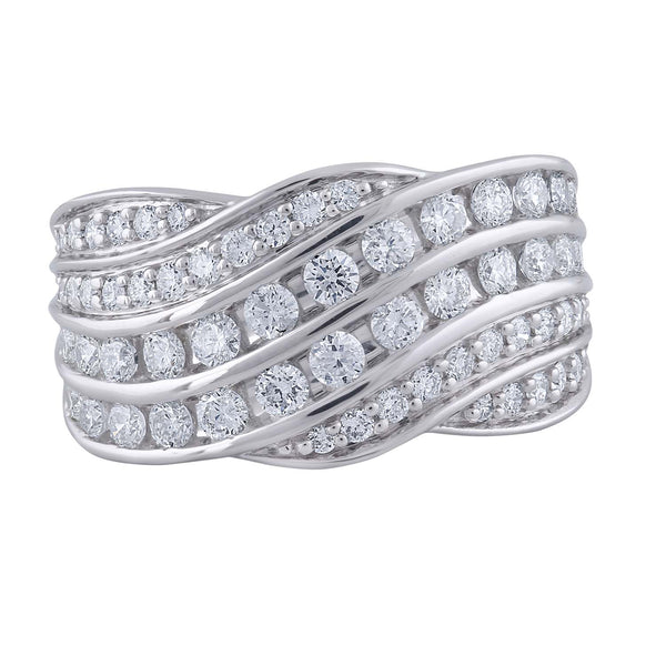 Ring with 0.97ct Diamond in 9K White Gold