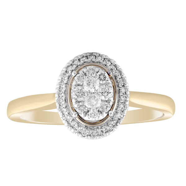 Ring with 0.25ct Diamond in 9K Yellow Gold