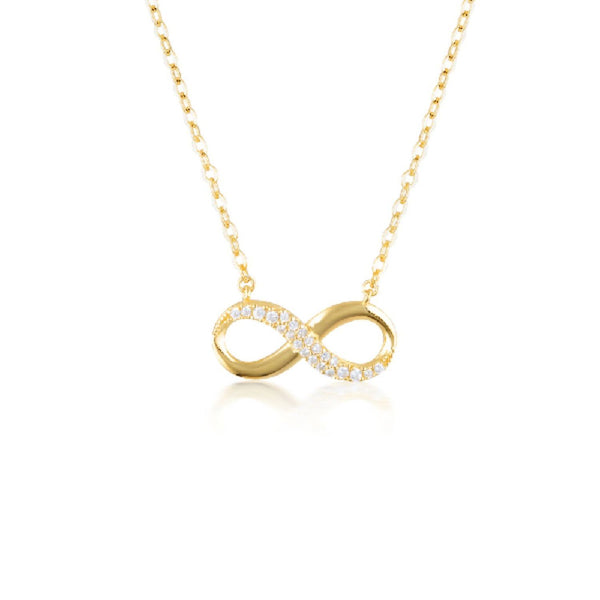 Georgini-Forever Infinity Gold Cubic Zirconia Necklet