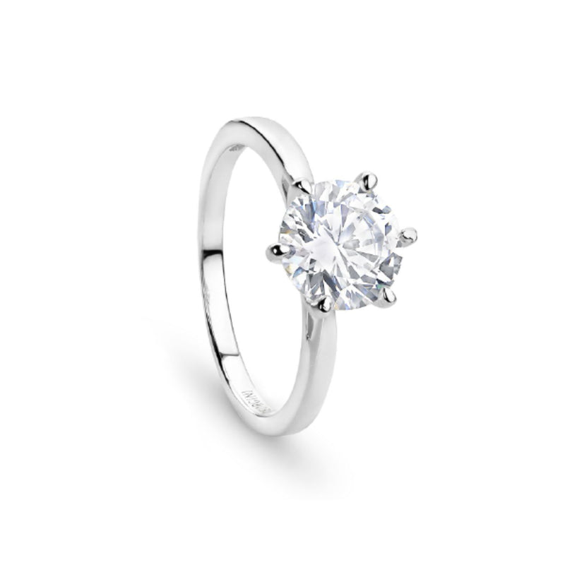 Georgini - Sterling Silver 8mm Cubic Zirconia Ring