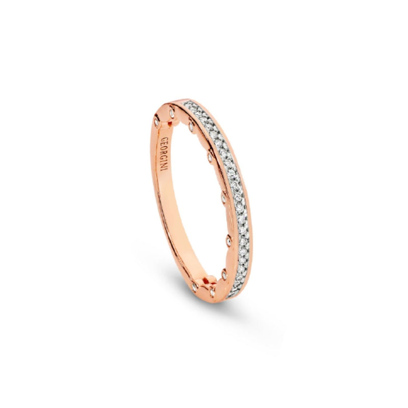 Georgini-Vienna Rose Gold Cubic Zirconia Ring