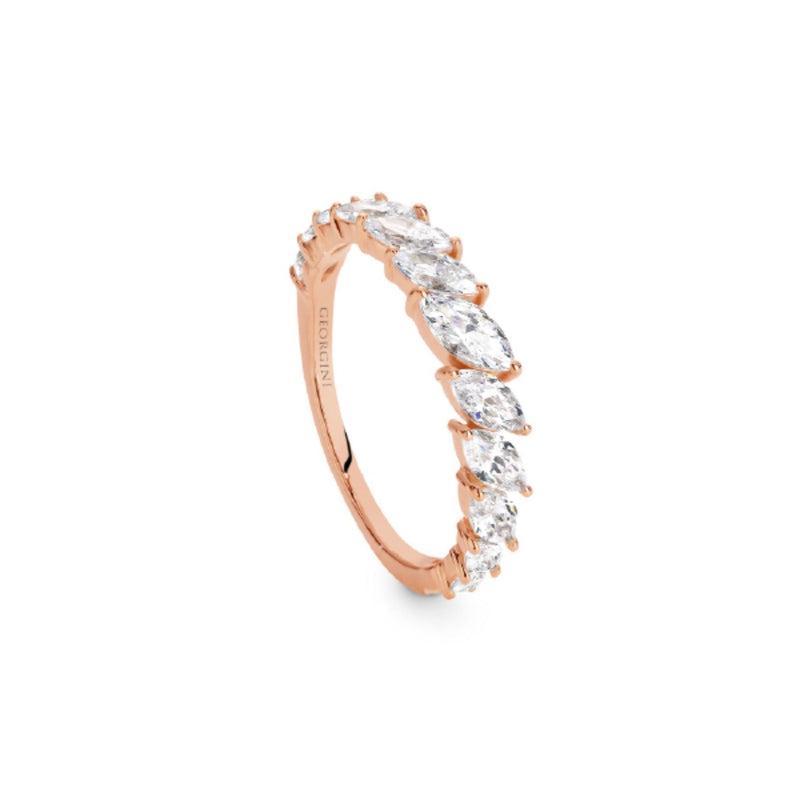 Georgini-Orion Rose Gold Cubic Zirconia Ring