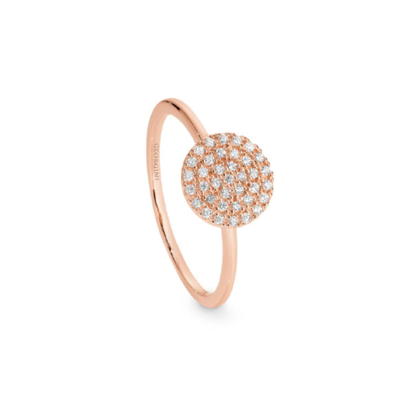 Georgini-Pavo Rose Gold Cubic Zirconia Ring