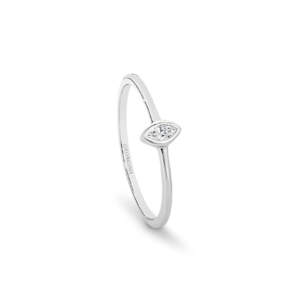 Georgini - Mesa Sterling Silver Cubic Zirconia Ring
