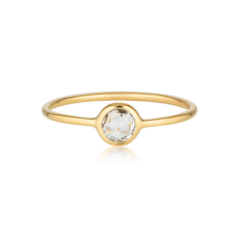 Georgini - Eos Yellow Gold White Topaz Ring