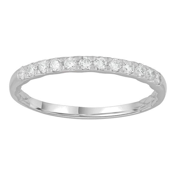 Band Ring with 0.25ct Diamonds in 9K White Gold