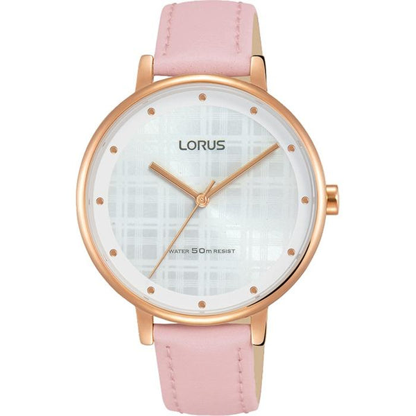 LORUS - Ladies Rose Gold Leather Watch