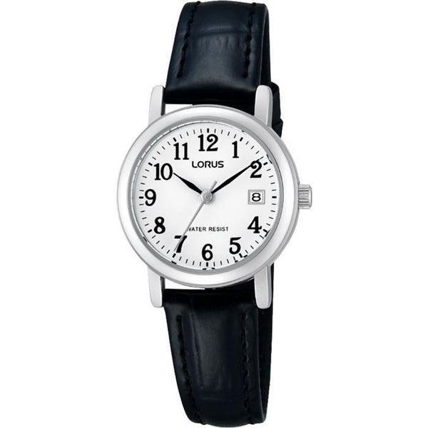 LORUS - Ladies Silver Leather Watch