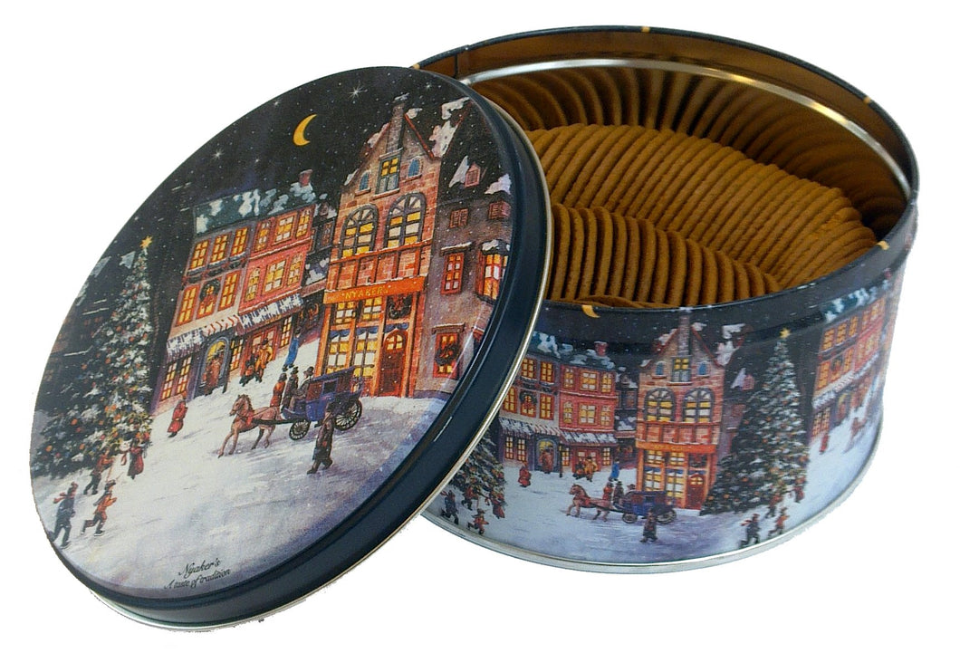 Gingerbread Cookies in Nostalgic Christmas Container