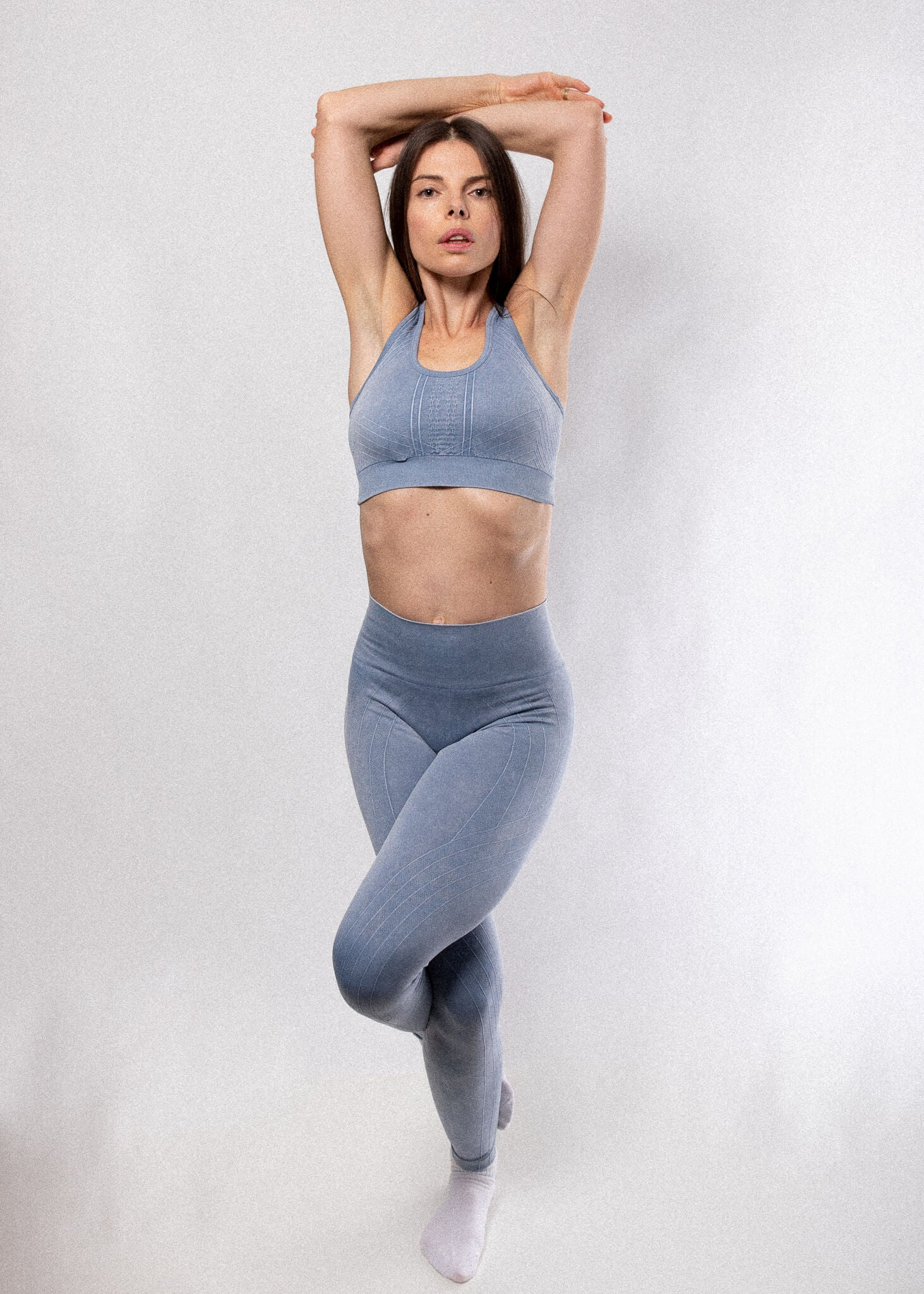 High Rise Stone Washed Leggings