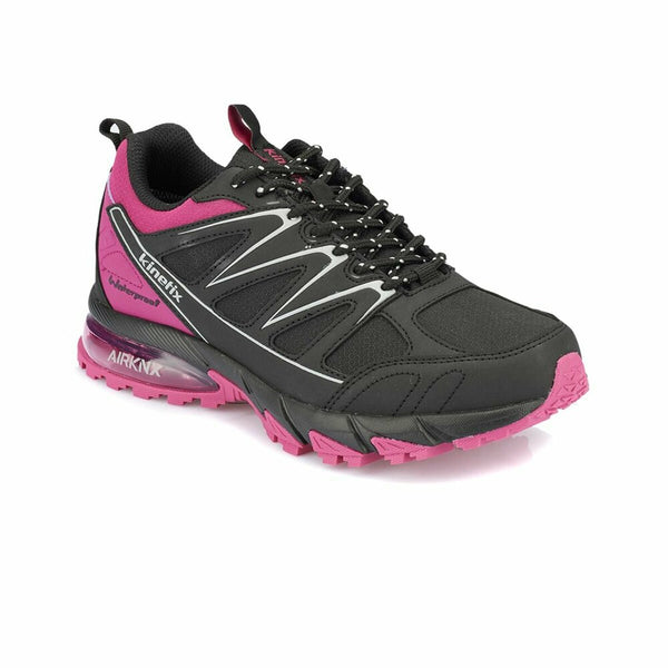 Women's Black Fuchsia Running Shoes