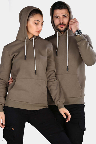 Unisex Hooded Kangaroo Pocket Mink Sweatshirt