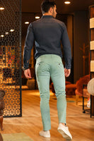Men's Pocketed Green Pants