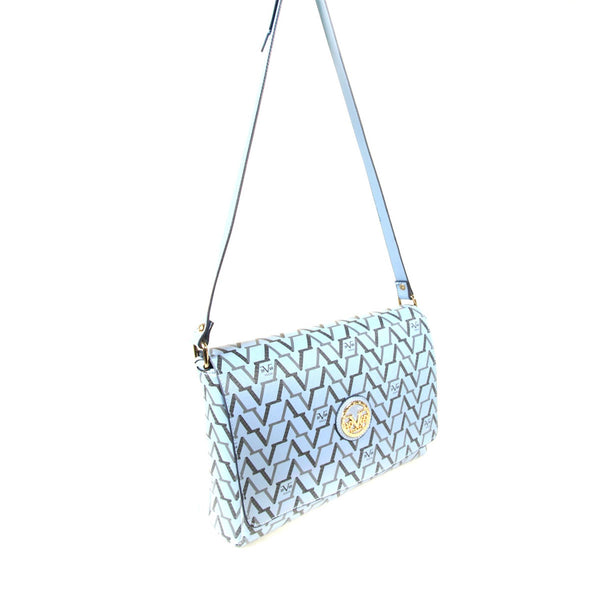 Women's Patterned Light Blue Crossbody Bag