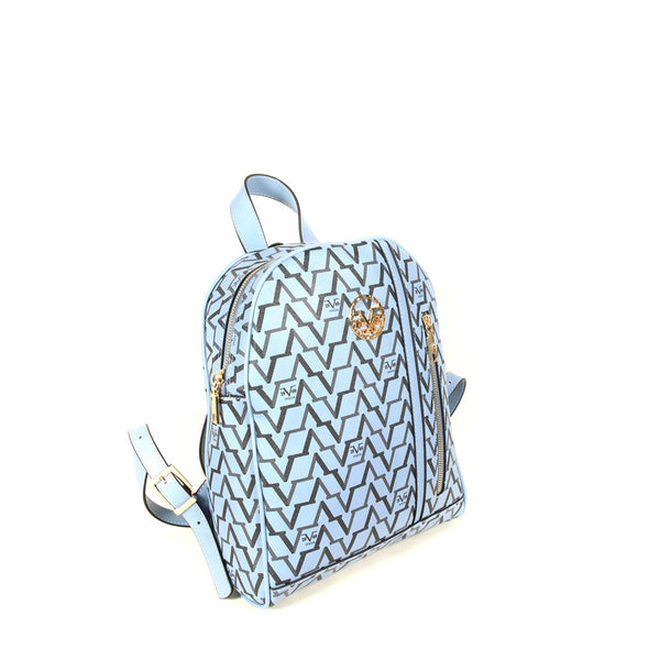 Women's Patterned Blue Backpack
