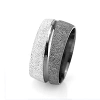 Women's Grey- White Color 925 Carat Silver Wedding Ring