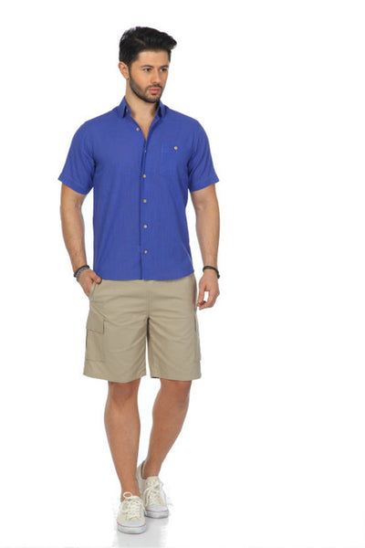 Men's Short Sleeves Saxe Shirt