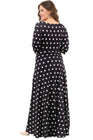 Women's Oversize Polka-Dotted Lycra Evening Dress