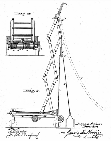 Fire Escape Ladder Truck Extended