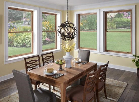 Double hung window type in home