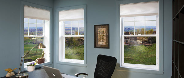 Singe hung window type in a home