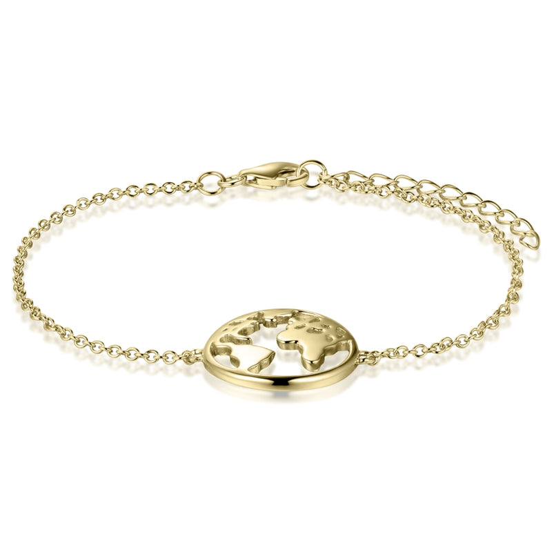 Sterling Silver Globetrotter Bracelet Covered with 18-karat Yellow Gold