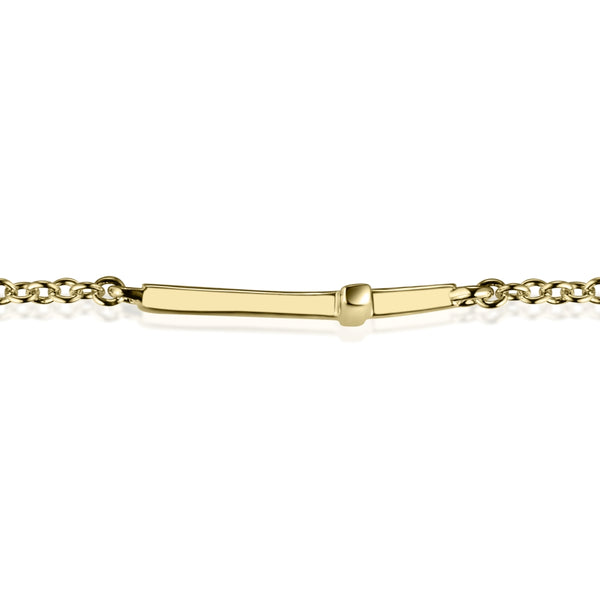 Cross Bracelet Covered with 18K Yellow Gold