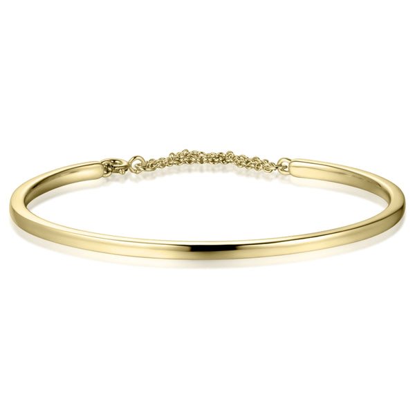 Sterling Silver Bangle Covered with 18-karat Yellow Gold
