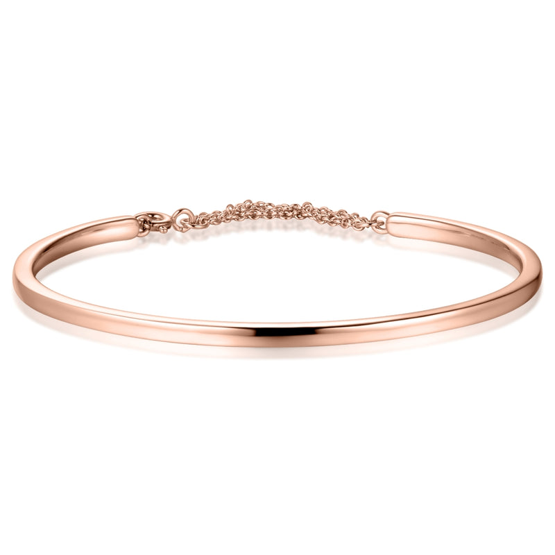 Sterling Silver Bangle Covered with 18-karat Rose Gold